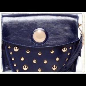 Ladies Studded Crossbody Handbag